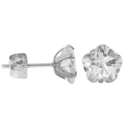 Ohrstecker aus Chirurgenstahl mit Blume in transparent 8mm