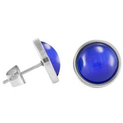 Chirurgenstahl Ohrstecker Elegance blau