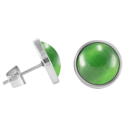 Chirurgenstahl Ohrstecker Elegance grün
