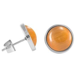 Chirurgenstahl Ohrstecker Elegance orange
