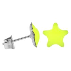 Chirurgenstahl Ohrstecker Emaille Stern leuchtendes Gelb