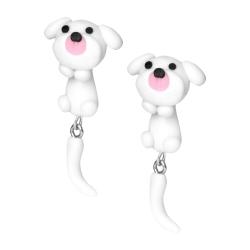 Chirurgenstahl Ohrstecker lustige Tiere Hund