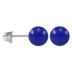 Ohrstecker Chirurgenstahl Neonfarben blau 5 mm