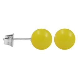 Ohrstecker Chirurgenstahl Neonfarben gelb 5 mm
