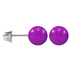 Ohrstecker Chirurgenstahl Neonfarben lila 5 mm