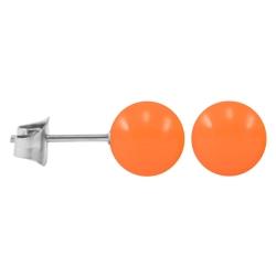 Ohrstecker Chirurgenstahl Neonfarben orange 3 mm