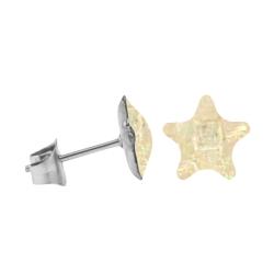 Chirurgenstahl Ohrstecker mit Mosaik Stern in beige
