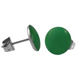 Chirurgenstahl Ohrstecker Emaille grün 4 mm