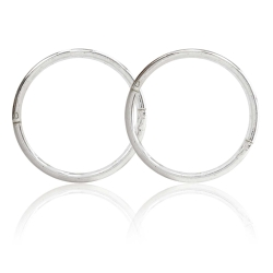 Creolen Ohrringe 925 Sterling Silber 12-18mm Studex Sensitive