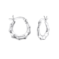 925 Sterling Silber Creolen Ohrringe 14mm mit französischem Verschluss