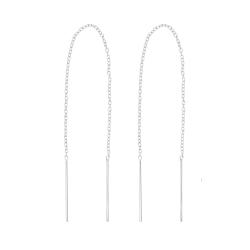 Durchzieher Ohrringe 925 Sterling Silber Ohrhänger