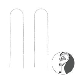Durchzieher 925 Sterling Silber Ohrhänger Ohrringe