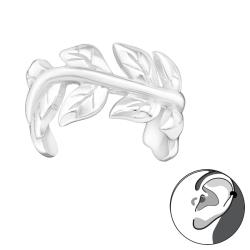 Ear Cuff 925 Sterling Silber Ohrklemme mit Weinblättern