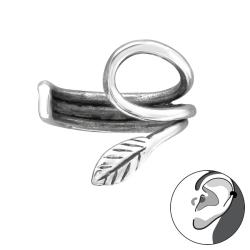Ear Cuff 925 Sterling Silber Ohrklemme mit Blatt