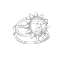 Ear Cuff 925 Sterling Silber Ohrklemme mit Sonne