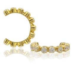 Ohrklemme 925 Sterling Silber vergoldet Ear Cuff mit Zirkonia