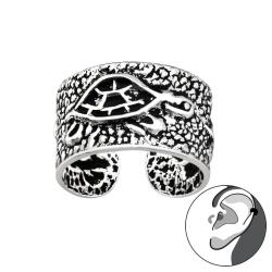 Ear Cuff 925 Sterling Silber Ohrklemme mit Schildkröte