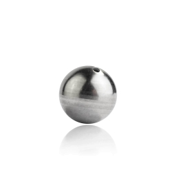 10 x Edelstahl Kugel durchbohrt in verschiedenen Größen