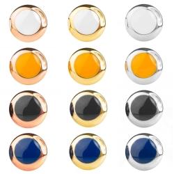 Edelstahl Ohrstecker gelbvergoldet oder rosévergoldet emailliert in verschiedenen Farben
