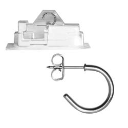 Erstohrstecker Chirurgenstahl Halbcreole Studex System 75