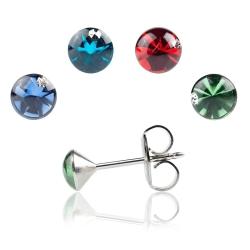 Studex Erstohrstecker Chirurgenstahl mit Kristallstein in verschiedenen Farben
