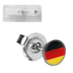 Erstohrstecker Chirurgenstahl Flagge Deutschland