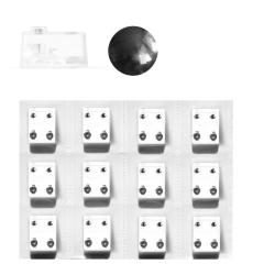 Erstohrstecker Set Chirurgenstahl - 12 Paar Sterile Ohrstecker Knopfform 4mm