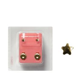 Erstohrstecker Chirurgenstahl vergoldet Sterile Ohrstecker mit Stern 3mm