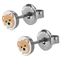 Chirurgenstahl Ohrstecker mit Teddybär Studex Sensitive