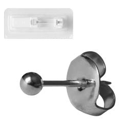 Erstohrstecker Titan Sterile Ohrstecker mit Kugel 3-4mm