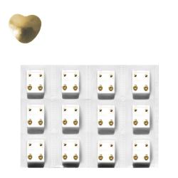 Erstohrstecker Set vergoldet - 12 Paar sterile Ohrstecker mit Herz 4mm