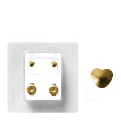 Erstohrstecker Chirurgenstahl vergoldet Sterile Ohrstecker mit Herz 4mm