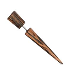 Fake Plug Ohrstecker aus Palmenholz