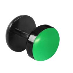 Fake Plug Ohrstecker Emaille in leuchtendem grün