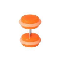 Fake Plug Ohrstecker im Dunkeln leuchtend Orange