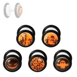 Fake Plug Halloween Ohrstecker im Dunkeln leuchtend