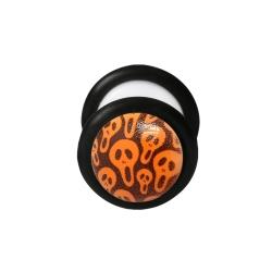 Fake Plug Halloween Ohrstecker im Dunkeln leuchtend Gespenster 12mm