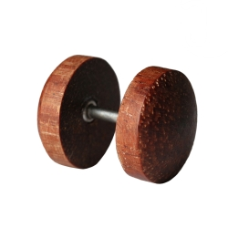 Fake Plug Ohrstecker Holz Narrabaum 8 mm
