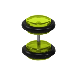 Fake Plug Ohrstecker in grün 6 mm