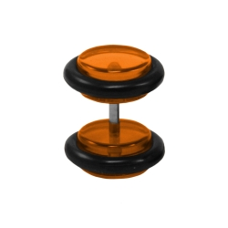 Fake Plug Ohrstecker in orange 4 mm