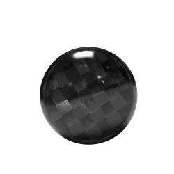 Fake Plug Ohrstecker schwarz Carbonfaser 10mm klein in schwarz