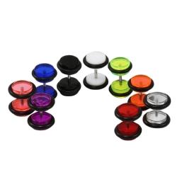 Fake Plugs Ohrstecker in verschiedenen Farben und Größen