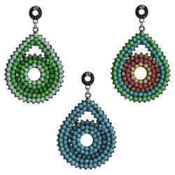 Fashion Earrings Ohrstecker Tropfen mit Strass und Glas