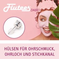 Flutees Dabei Schutzhülsen für Ohrschmuck, Ohrloch und Stichkanal