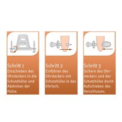Flutees Schutzhülsen für Ohrstecker 5er Packung