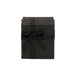 Ohrstecker Schmuckbox in schwarz