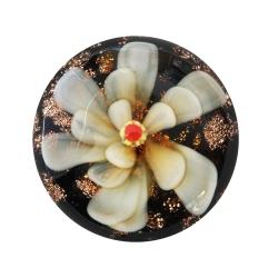 Cabochon Klebstein mit gelber Blume 20mm