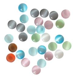 Mix Glas Klebesteine 6mm Cabochons in verschiedenen Farben