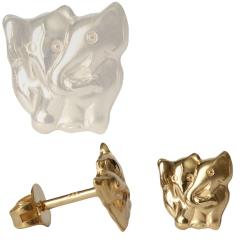 Ohrstecker Elefanten Paar 333er Gelbgold