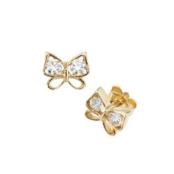 Gold Ohrstecker Schmetterlinge 333er Gelbgold mit Zirkonia